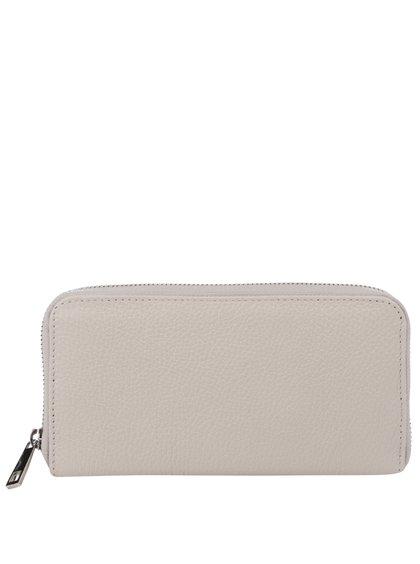Krémová kožená velká peněženka ZOOT