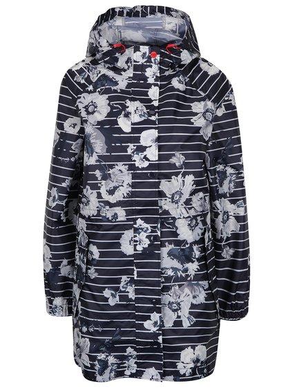Jachetă bleumarin impermeabilă cu flori și dungi Tom Joule