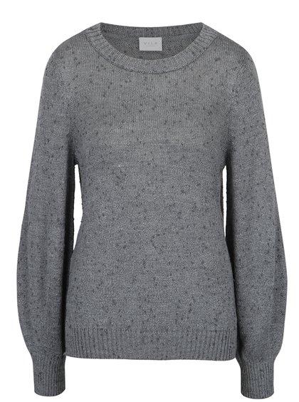 Pulover gri tricotat cu mâneci bufante -  VILA Addy