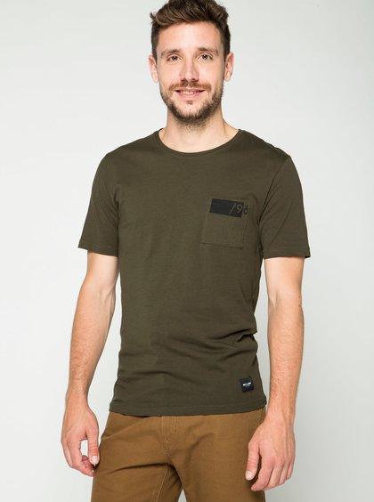 Khaki triko s kapsou ONLY & SONS Low