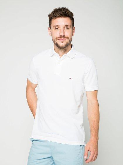 Bílé pánské polo triko Tommy Hilfiger