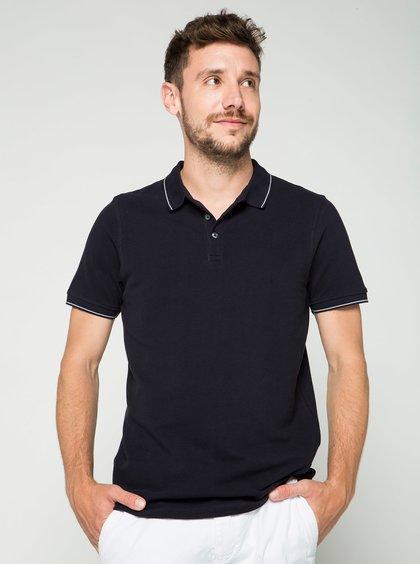 Tmavě modré polo triko Burton Menswear London