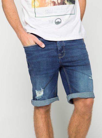 Pantaloni scurți albaștri din denim Burton Menswear London