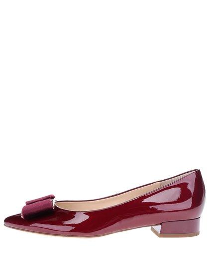 Pantofi roșu bordo din piele lăcuită - Högl