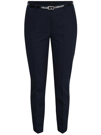Pantaloni bleumarin chino cu curea VERO MODA Roos
