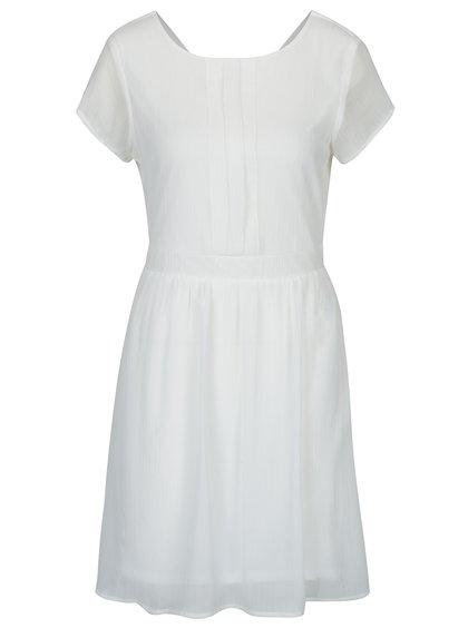 Krémové šaty s véčkovým výstřihem na zádech VERO MODA Lisa