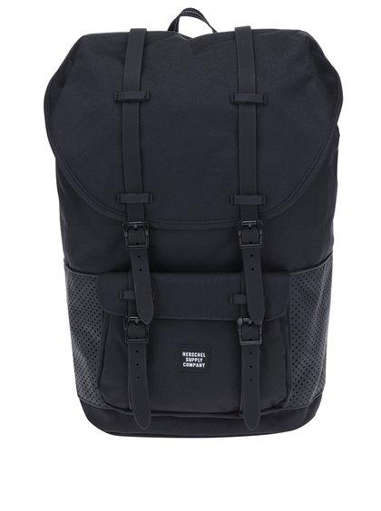 Černý batoh s perforovanými detaily Herschel Little America 25 l