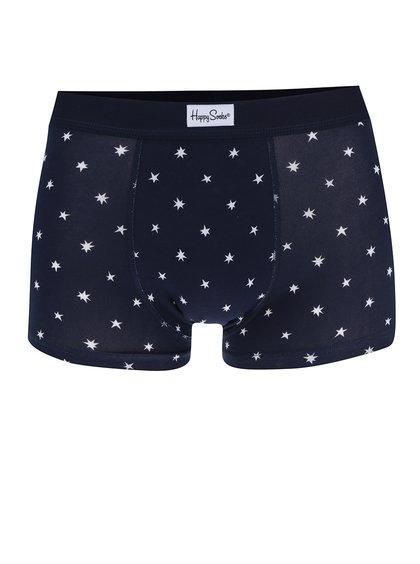 Boxeri bleumarin cu model cu steluțe Happy Socks Twinkle