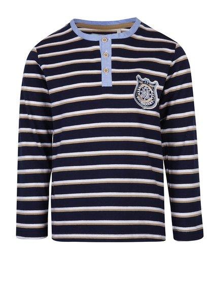 Bluză bleumarin cu dungi și nasturi pentru băieți 5.10.15.