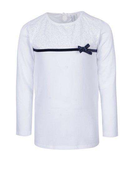 Bílé holčičí tričko s mašlí 5.10.15.