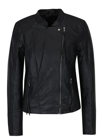 Černá koženková bunda VERO MODA Kamma
