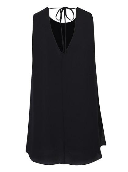 Bluză neagră vaporoasă fără mâneci Dorothy Perkins Curve
