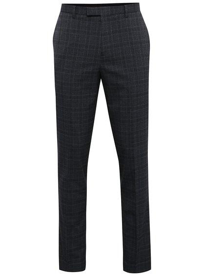 Pantaloni gri de costum cu model în carouri Burton Menswear London
