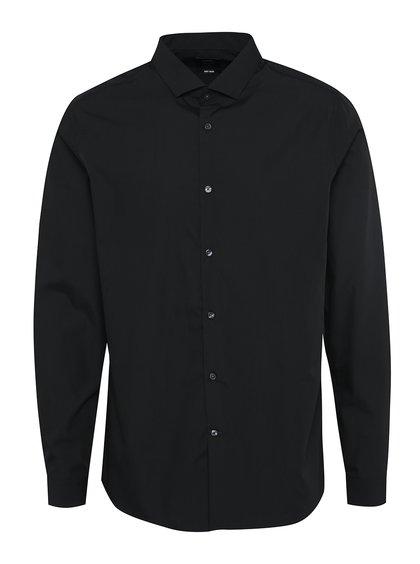 Černá formální skinny fit košile Burton Menswear London