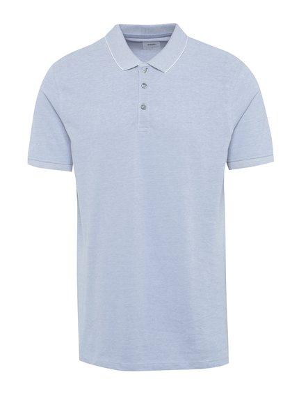 Světle modré žíhané polo triko Burton Menswear London