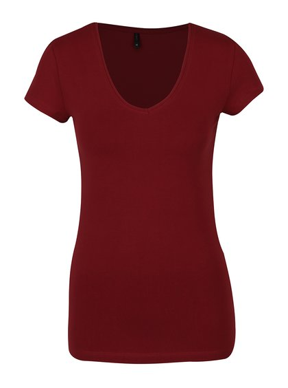 Vínové tričko s krátkým rukávem ONLY Live Love