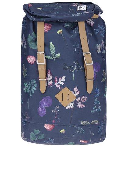 Rucsac bleumarin cu print floral The Pack Society 23 l