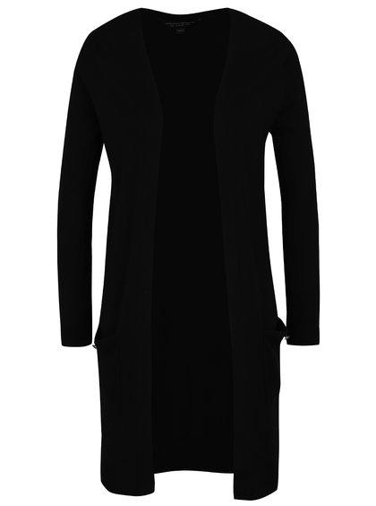 Černý dlouhý cardigan s kapsami Dorothy Perkins