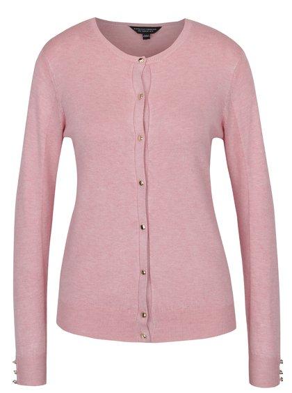 Cardigan roz din jerseu cu nasturi aurii Dorothy Perkins
