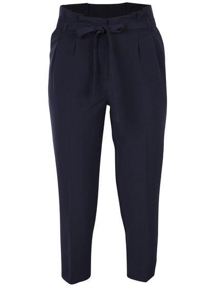Pantaloni conici bleumarin cu cordon în talie - Miss Selfridge Petites