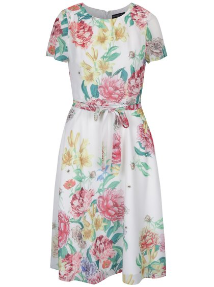 Rochie midi albă cu model floral Dorothy Perkins