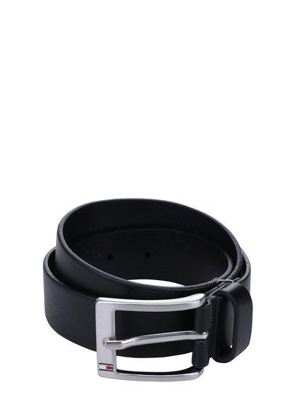 Černý pánský kožený pásek Tommy Hilfiger New Aly