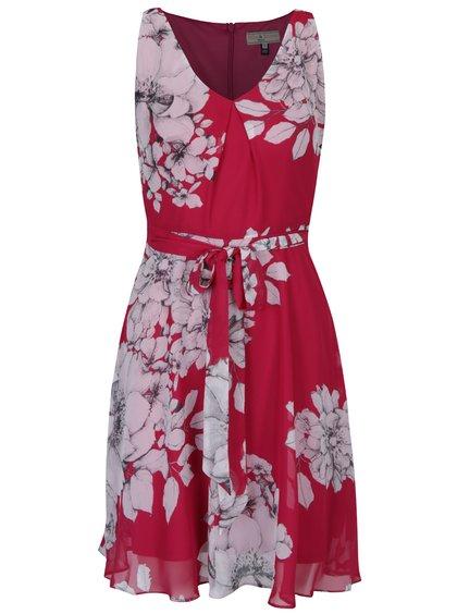 Rochie midi roz din șifon cu model floral Billie & Blossom Petite