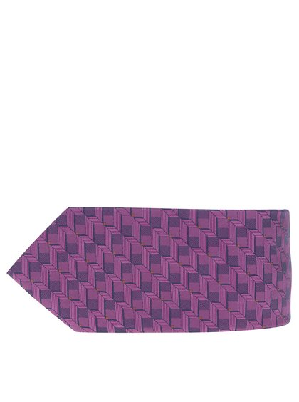 Tmavě fialová vzorovaná kravata Burton Menswear London