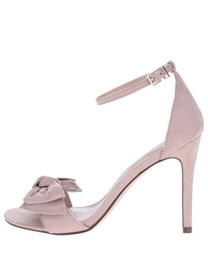 Starorůžové sandálky v semišové úpravě na podpatku Dorothy Perkins