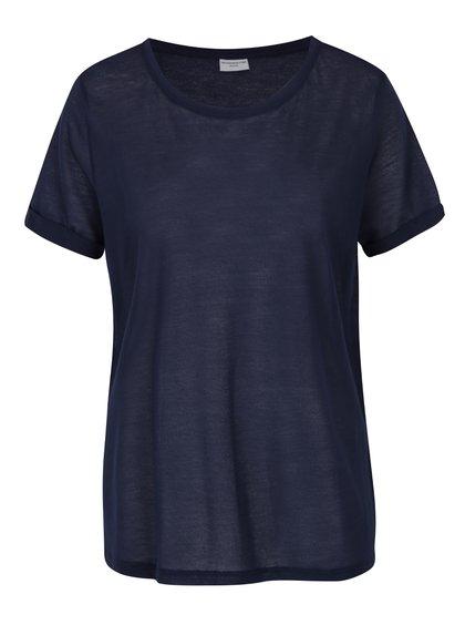 Tmavě modré tričko Jacqueline de Yong Ramone
