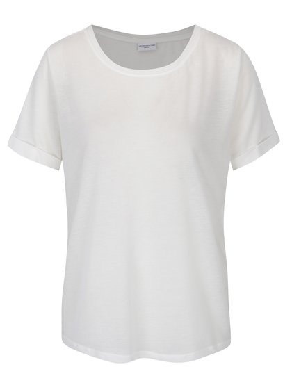 Krémové tričko Jacqueline de Yong Ramone