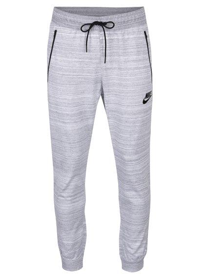 Pantaloni gri melanj cu buzunare Nike