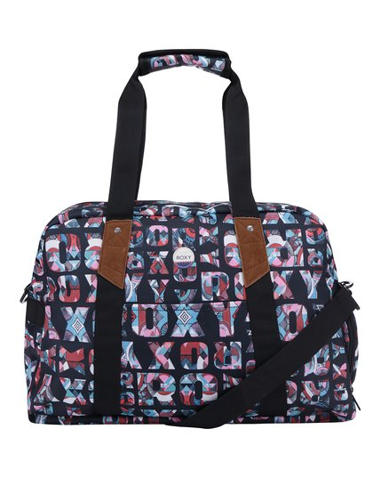 Černá sportovní taška s potiskem Roxy Sugar It Up