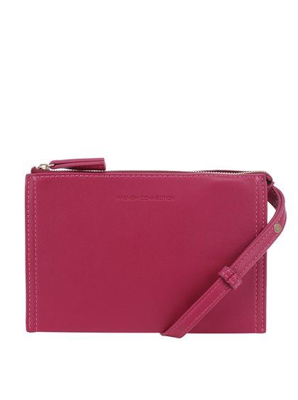 Růžová malá crossbody kabelka French Connection Josefina