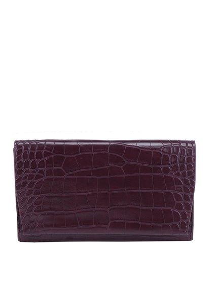 Vínová peněženka s hadím vzorem French Connection Phyllis
