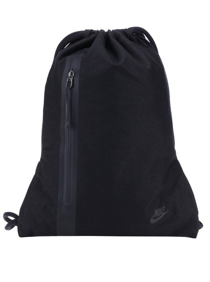 Černý vak s kapsou Nike 13 l