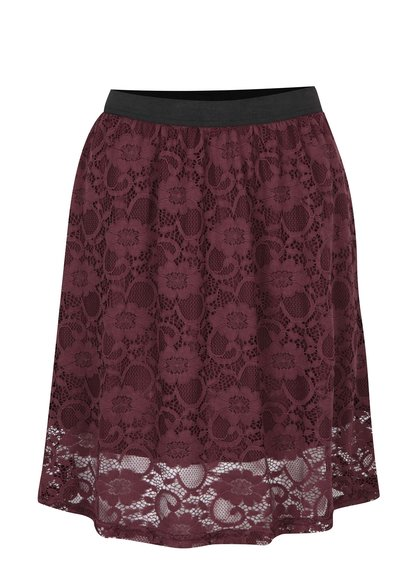 Vínová krajková sukně Jacqueline de Yong Green