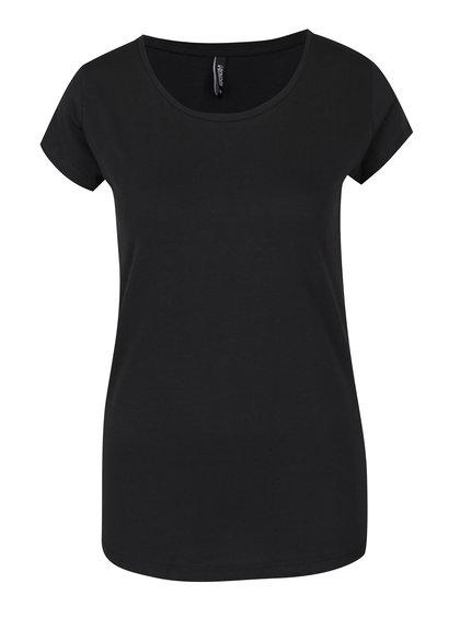 Tricou negru basic din bumbac Haily´s Tari