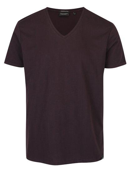 Tricou roșu bordo pentru bărbați Broadway Garet