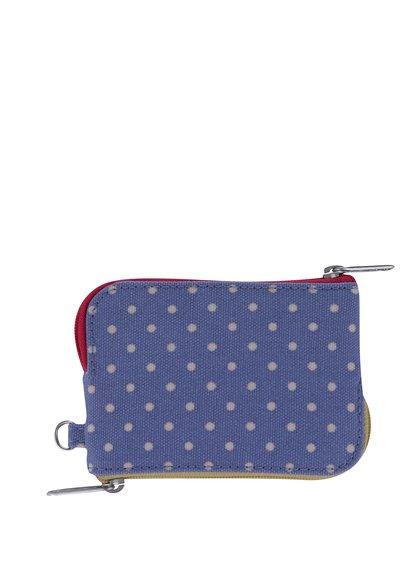 Modrá dámská puntíkovaná peněženka Cath Kidston