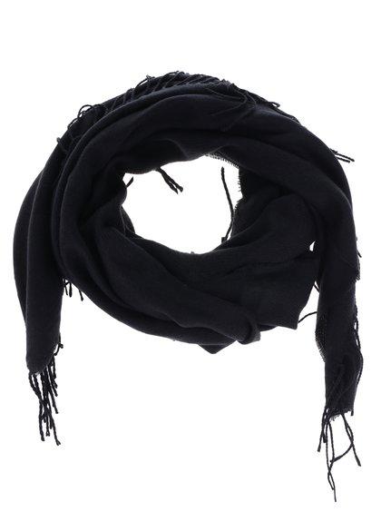Černá šála VERO MODA Solid
