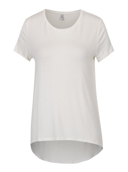 Tricou asimetric crem - ONLY Louise
