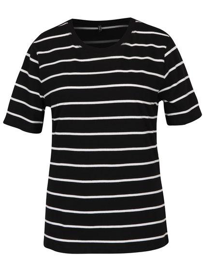 Bílo-černé pruhované tričko ONLY Great