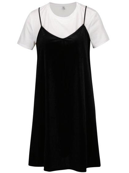 Rochie neagru & alb cu aspect 2 în 1 - ONLY Tara