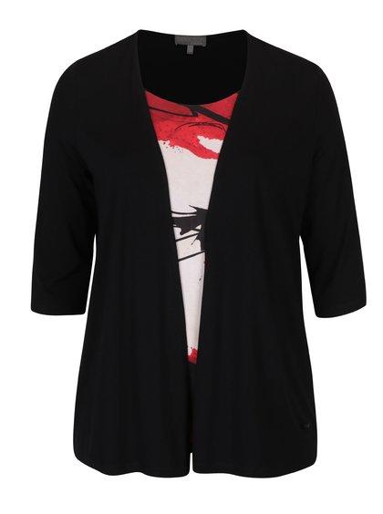Bluză 2în1 negru&roșu - Ulla Popken