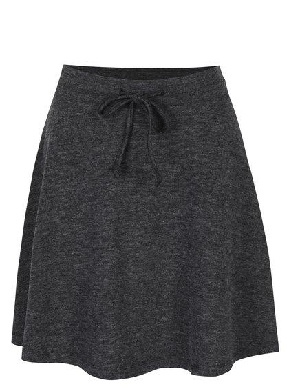 Tmavě šedá žíhaná sukně VILA Ammie