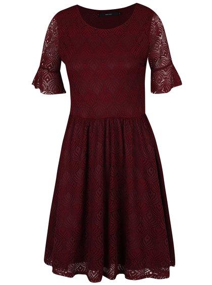 Rochie roșu bordo din dantelă - VERO MODA Majse