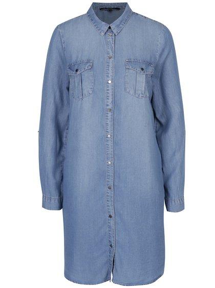 Rochie cămașă bleu din denim - VERO MODA Silla