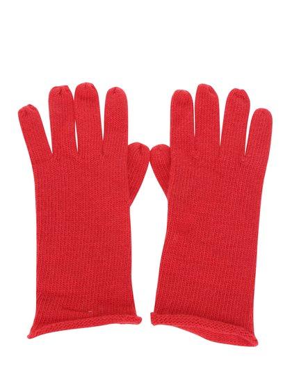 Mănuși roșii tricotate fin - ONLY Nautical