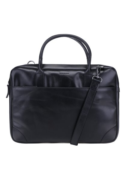 Černá pánská kožená taška na notebook Royal RepubliQ